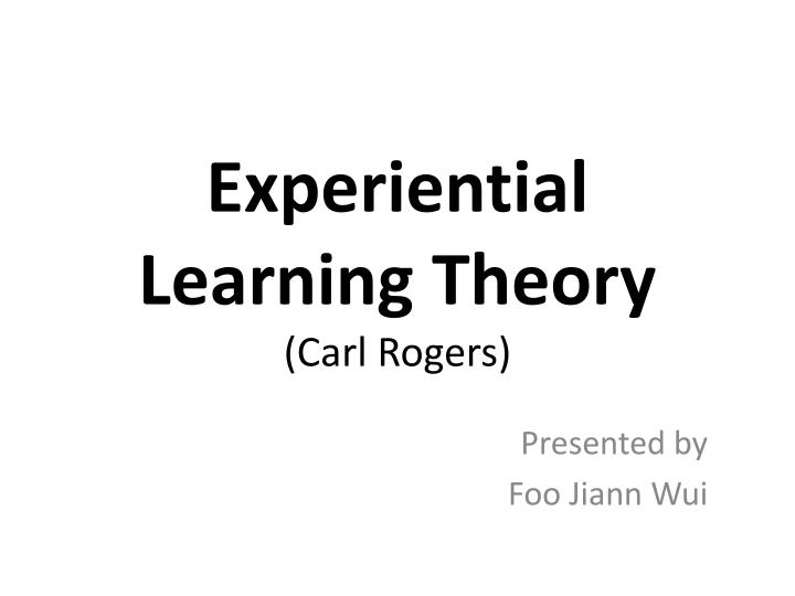 experiential learning theory carl rogers n.