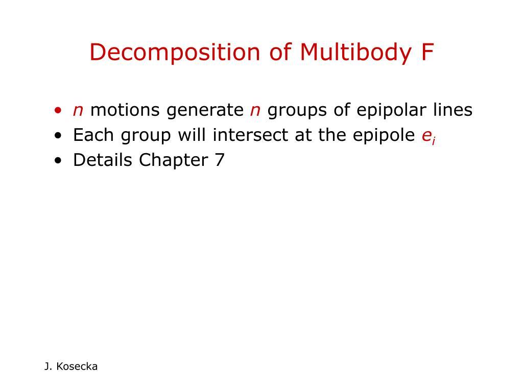 Decomposition of Multibody F