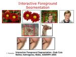 interactive foreground segmentation