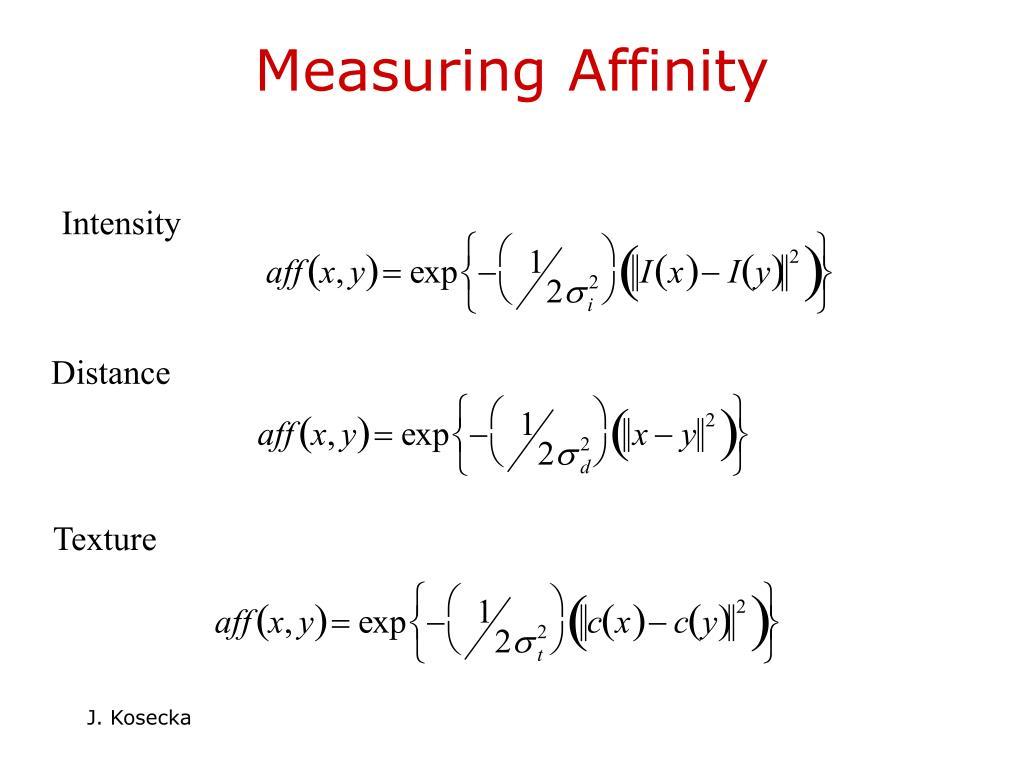Measuring Affinity