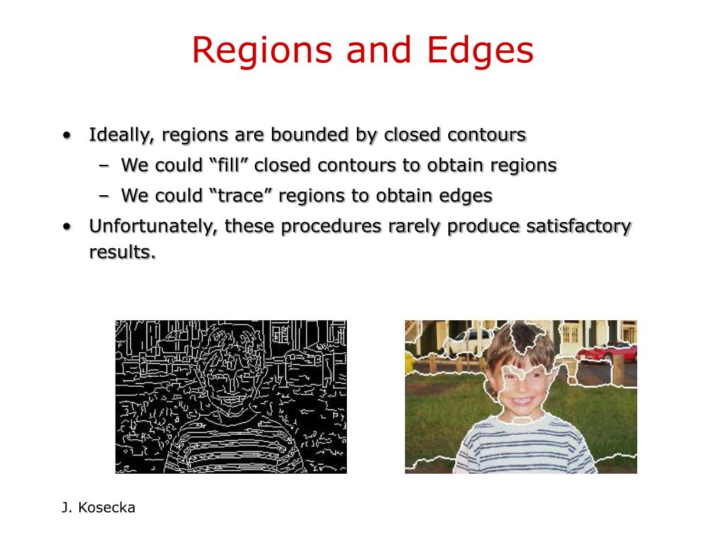 Regions and Edges