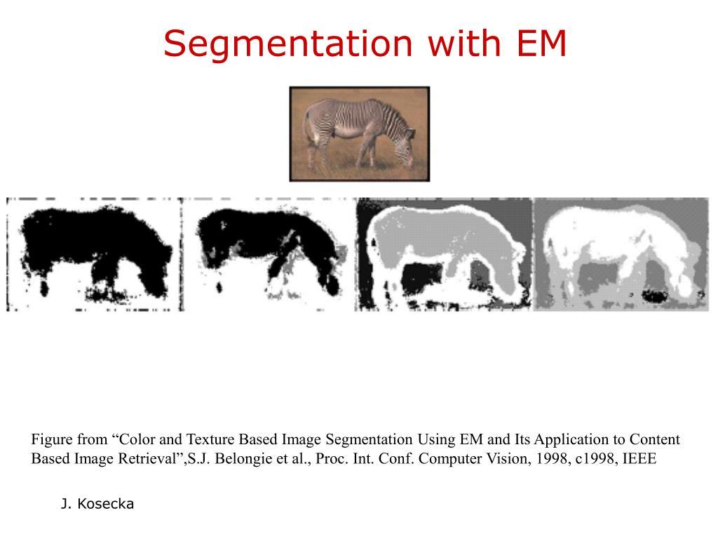 Segmentation with EM