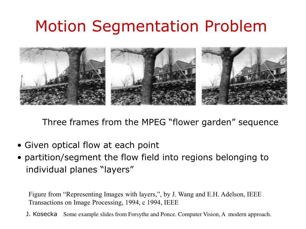 Motion Segmentation Problem