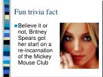 fun trivia fact