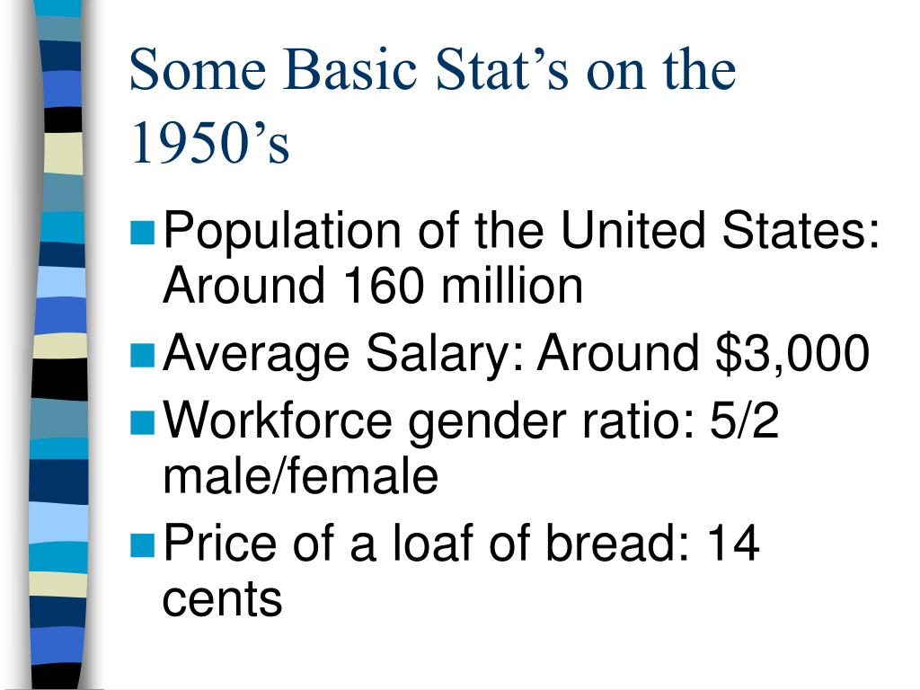 Some Basic Stat's on the 1950's