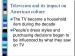 television and its impact on american culture