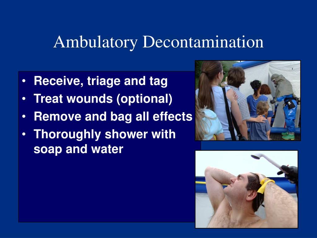 Ambulatory Decontamination