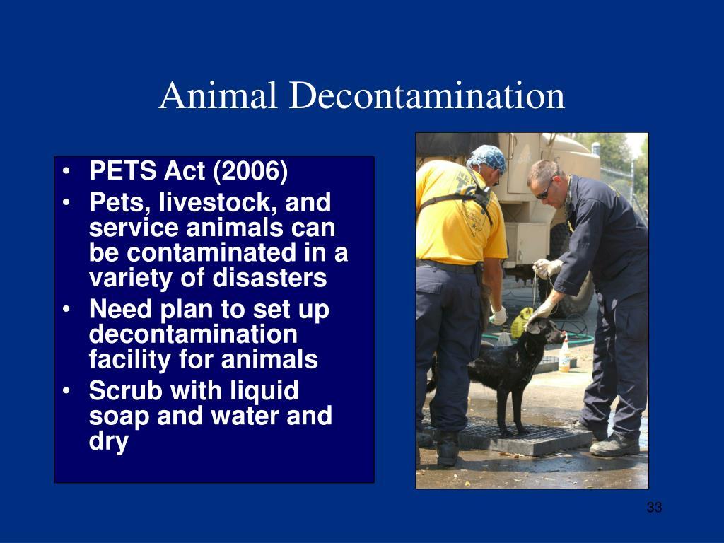 Animal Decontamination