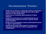 decontamination priorities