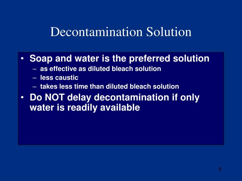 Decontamination Solution