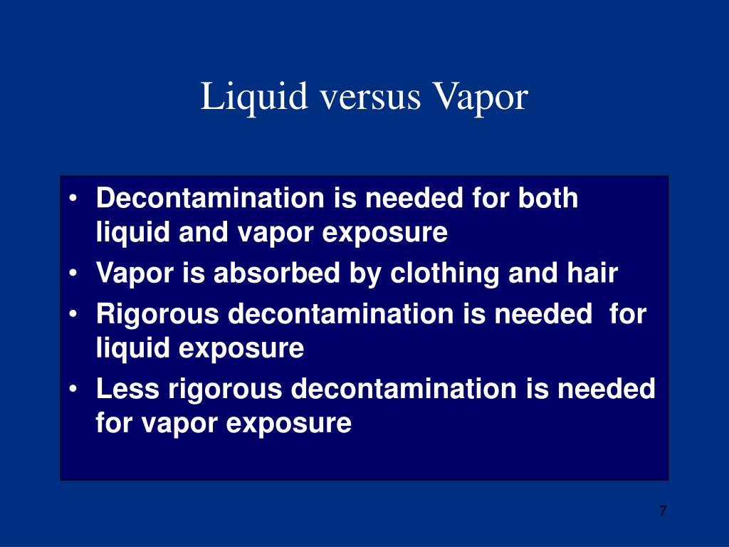 Liquid versus Vapor