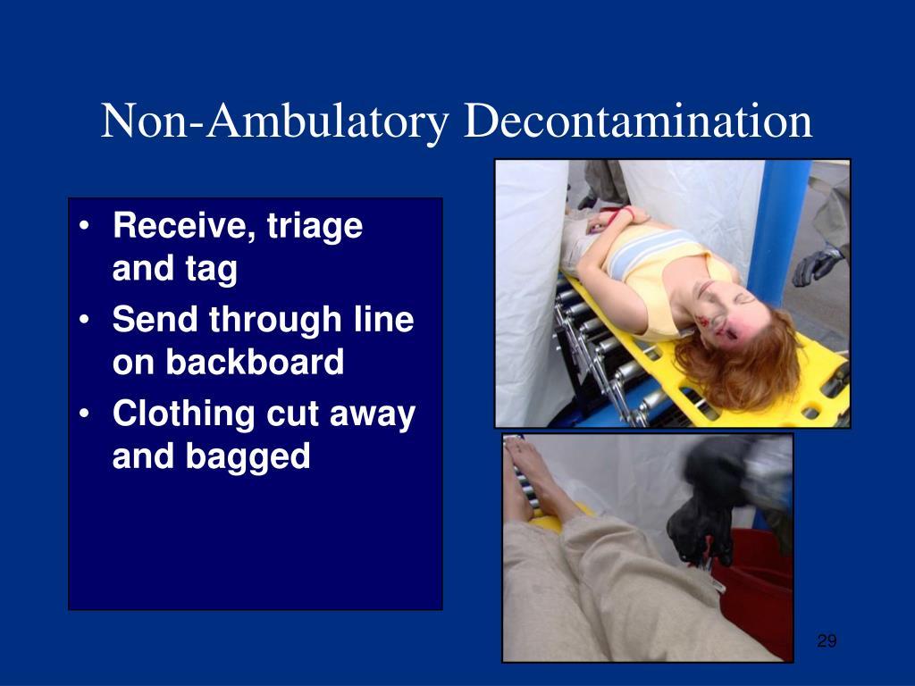 Non-Ambulatory Decontamination