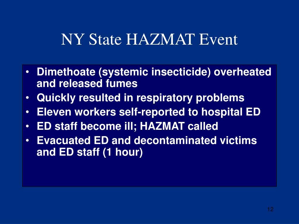 NY State HAZMAT Event