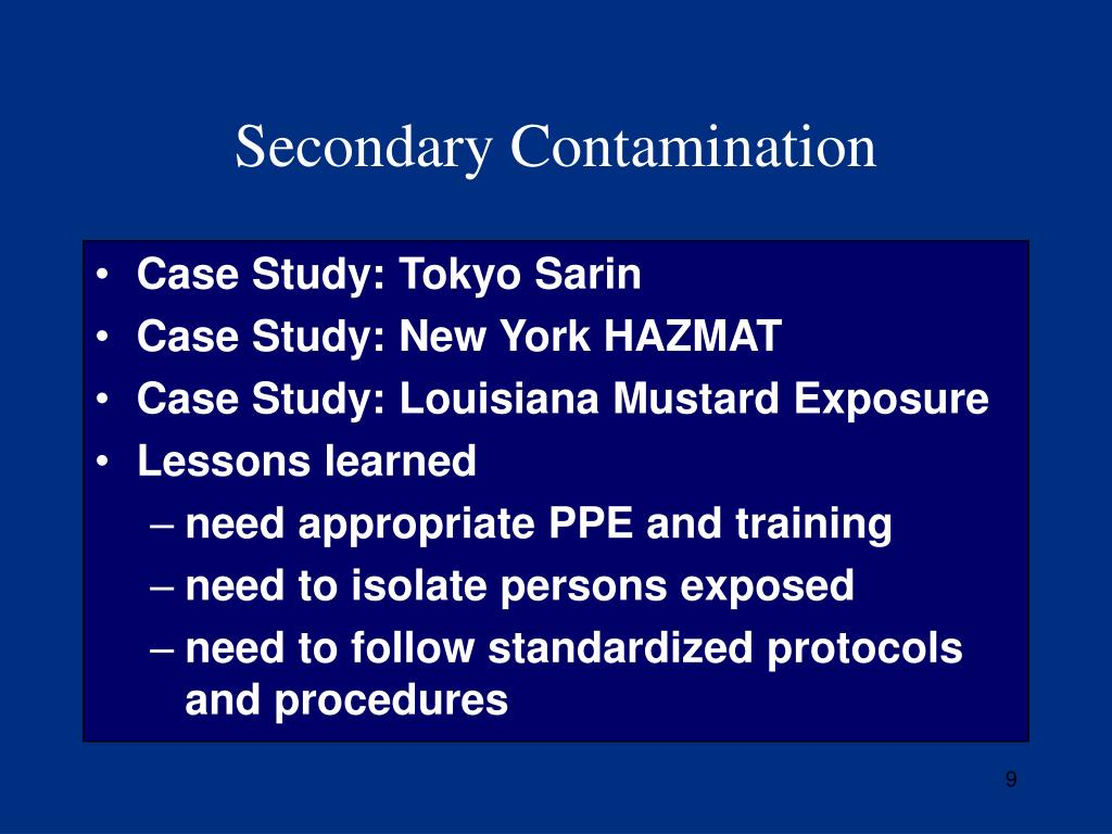 Secondary Contamination