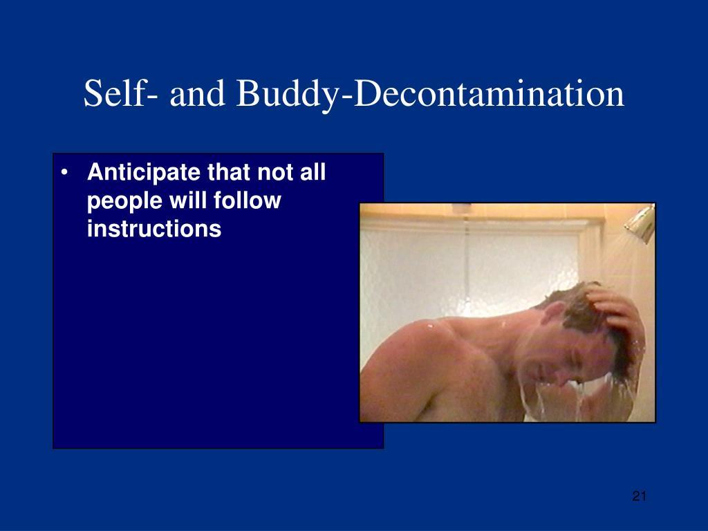 Self- and Buddy-Decontamination