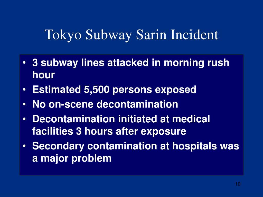 Tokyo Subway Sarin Incident