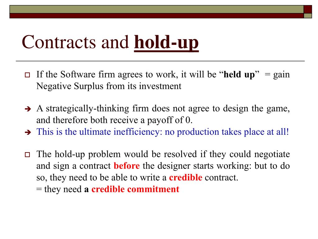 Contracts and