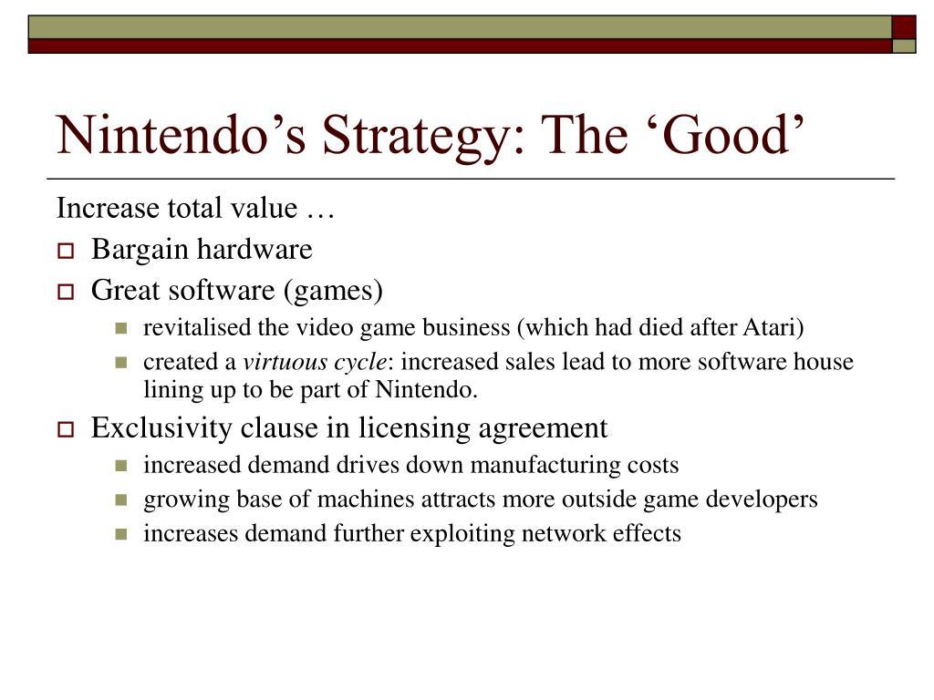Nintendo's Strategy: The 'Good'