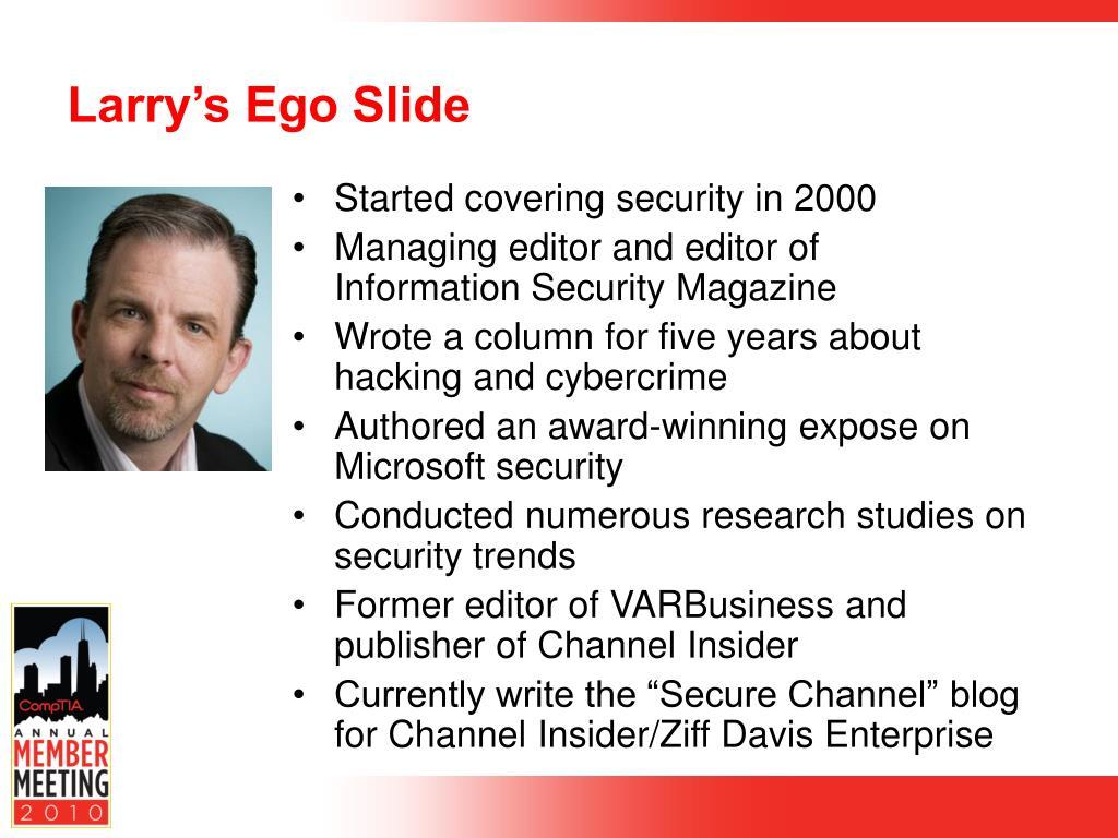 Larry's Ego Slide