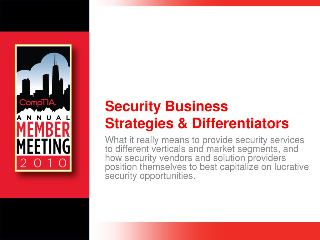 security business strategies differentiators l.