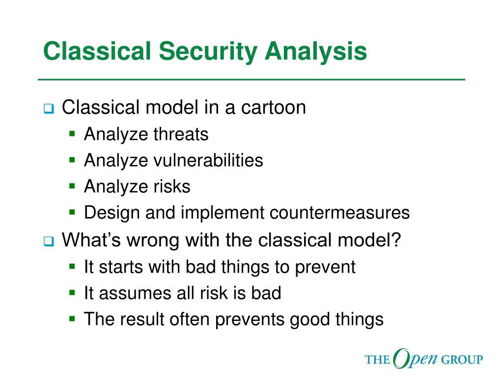 Classical Security Analysis