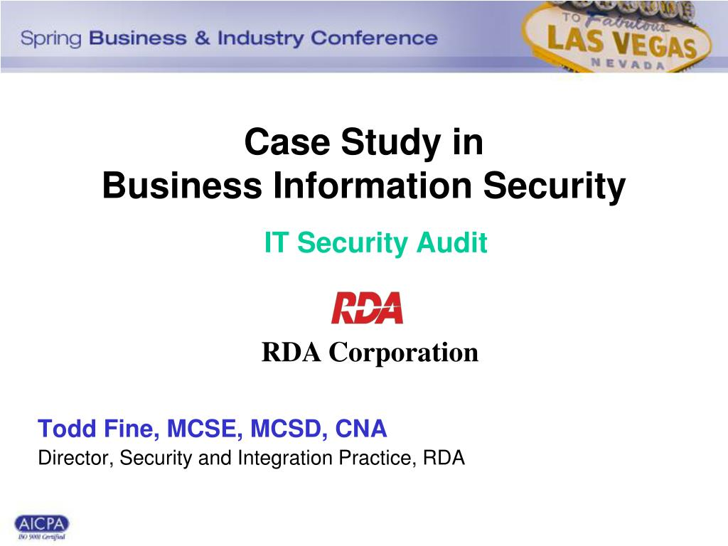 case study in business information security l.
