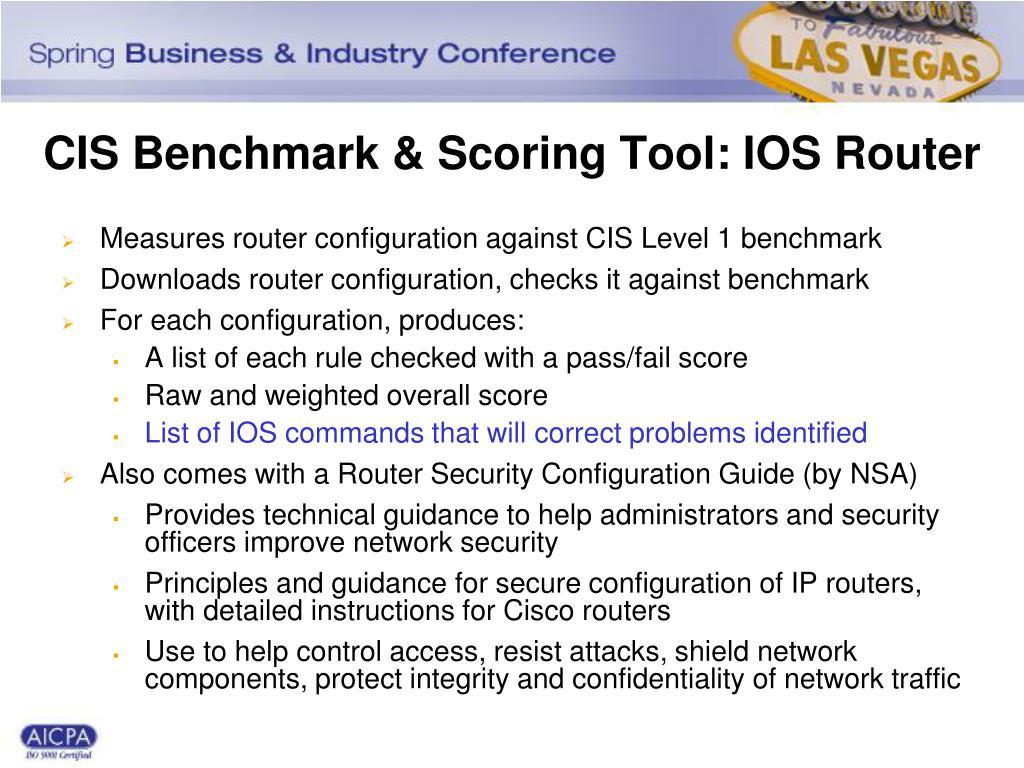 CIS Benchmark & Scoring Tool: IOS Router