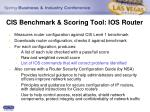 cis benchmark scoring tool ios router