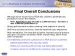 final overall conclusions