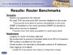 results router benchmarks17