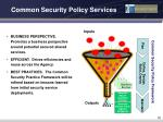common security policy services