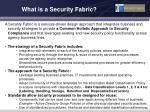 what is a security fabric