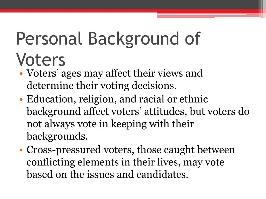 Personal Background of Voters