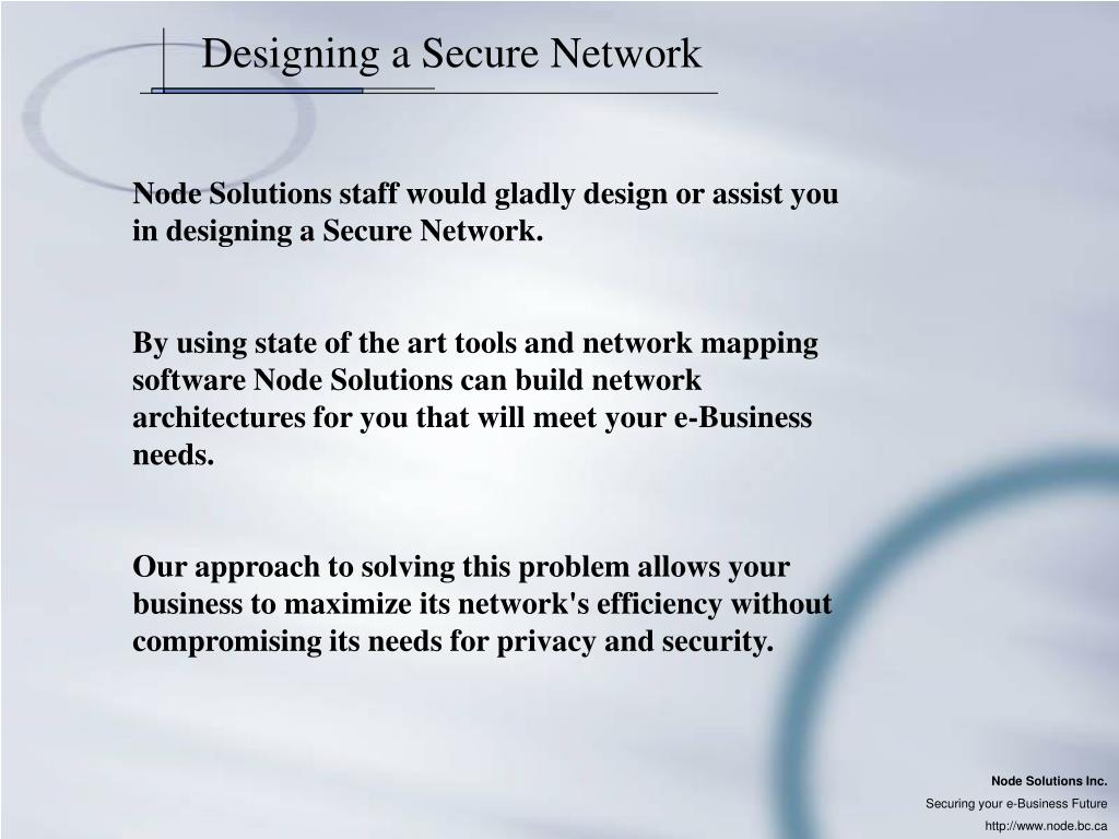 Designing a Secure Network