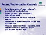 access authorization controls
