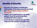benefits of security