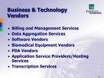 business technology vendors