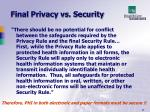 final privacy vs security