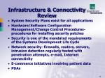 infrastructure connectivity review