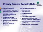 privacy rule vs security rule