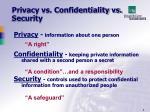 privacy vs confidentiality vs security