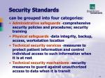 security standards