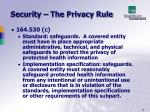 security the privacy rule