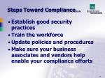 steps toward compliance