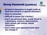 strong passwords guidelines