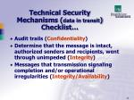 technical security mechanisms data in transit checklist34