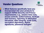 vendor questions