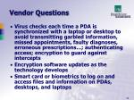 vendor questions56