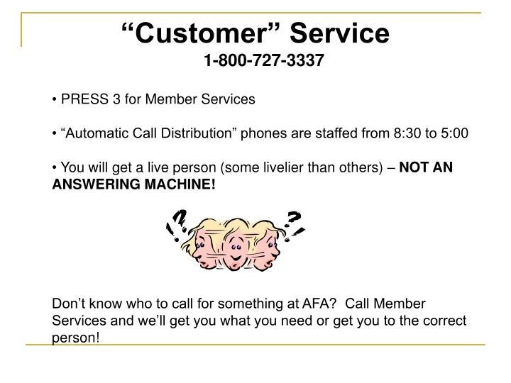"""Customer"" Service"