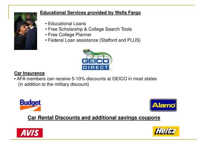 Educational Services provided by Wells Fargo